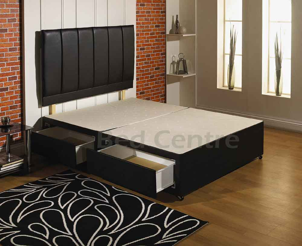 5ft king size divan bed base drawers headboard sale ebay for King size divan bed base with drawers
