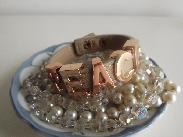 Bcbgeneration 'Peace' Affirmation Bracelet