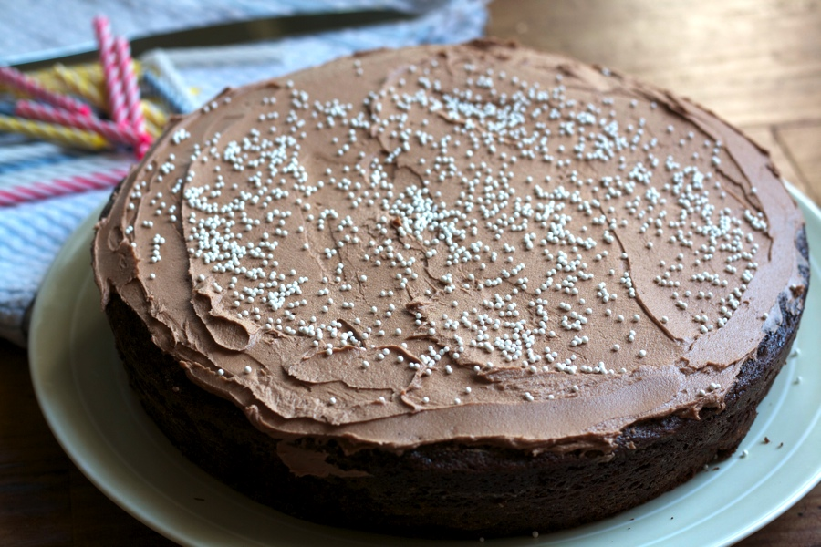 mocha cake side