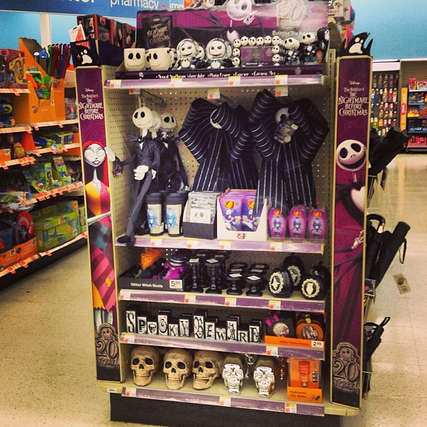 Full End cap display of 20th Anniversary Nightmare Before Christmas ...