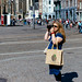 Day 3 : Clare in Dam Square by munkt0n