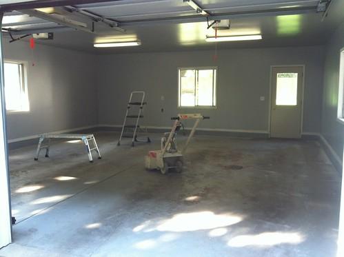 garage floor progress