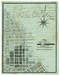 Map of the burnt district, San Francisco. Night of May 3d. 1851.