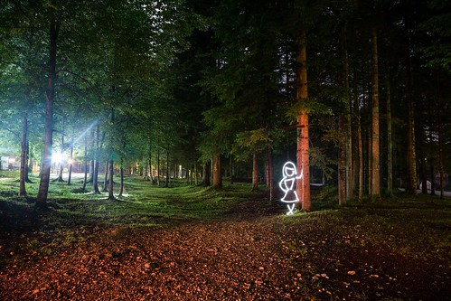 LED Astray (All In Camera Light Painting), Bohinj Jezero by flatworldsedge