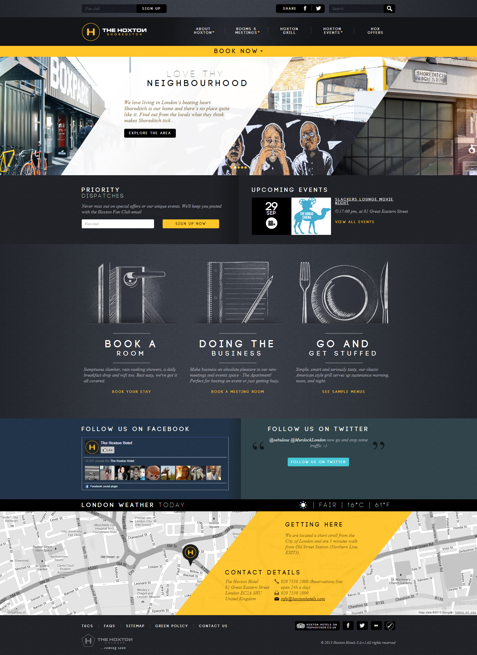 Website Inspiration - Hoxton Hotel