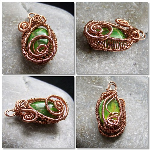 Copper and variscite pendant - collection of photos1
