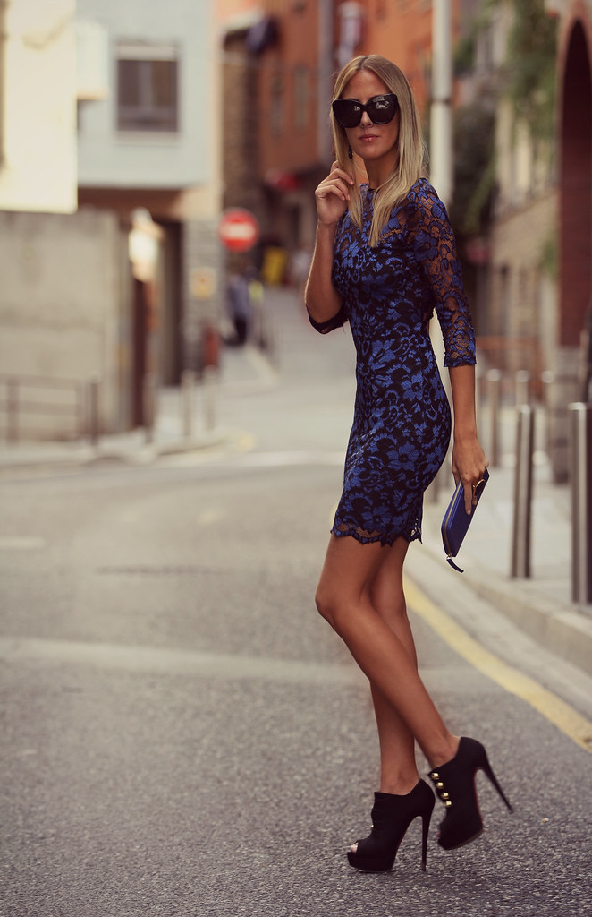 style lover blue lace dress XII