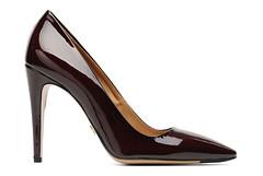 heel(0.0), outdoor shoe(0.0), textile(0.0), maroon(0.0), limb(0.0), leg(0.0), human body(0.0), suede(0.0), basic pump(1.0), brown(1.0), footwear(1.0), shoe(1.0), high-heeled footwear(1.0), leather(1.0), tan(1.0),