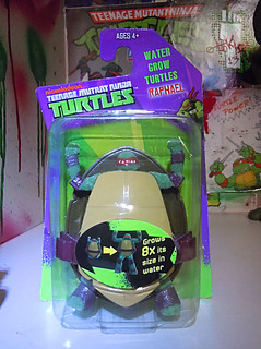 WICKED COOL TOYS :: Nickelodeon TEENAGE MUTANT NINJA TURTLES; 'WATER GROW TURTLES' - RAPHAEL i  (( 2013 ))