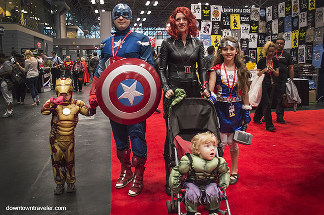 NY Comic Con Family Costume Avengers