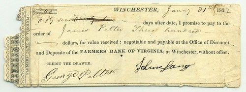 Farmer's Bank Winchester note