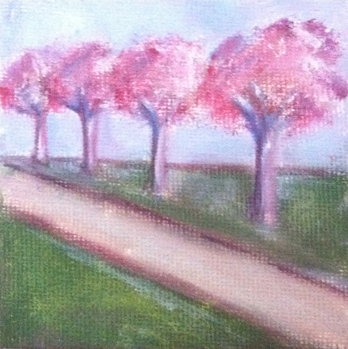 Row of Trees (Mini-Painting as of October 18, 2013) by randubnick