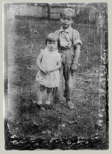 Tintype two children
