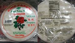 Rijstvellen zonder tapioca
