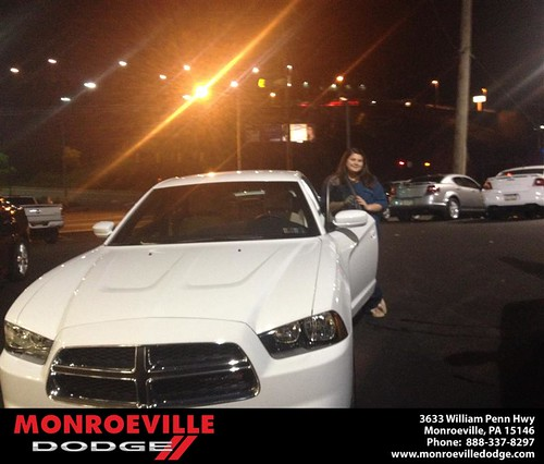 Thank you to Kelley Colopietro on your new 2013 #Dodge #Charger from Lara Paradise and everyone at Monroeville Dodge! #NewCarSmell by Monroeville Dodge
