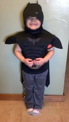 Miles, age 5 dressed as a superhero