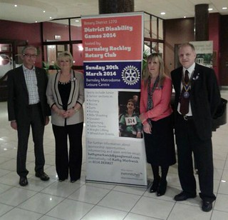 Members of the Rotary Club of Barnsley Rockley at the Rotary District 1270 Disability Games 2014 Launch Event.