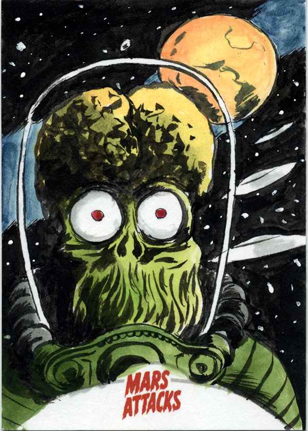 Mars Attacks Sketch Card on eBay...