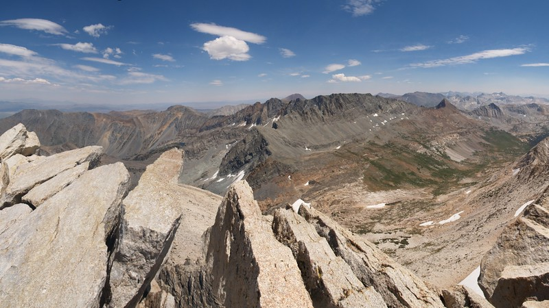 View east from the summit of Matterhorn Peak