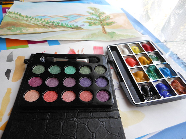 DIY pocket watercolor palette