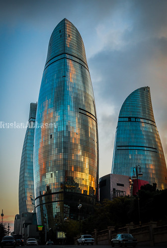 sunset baku azerbaijan nikond600 flametowers