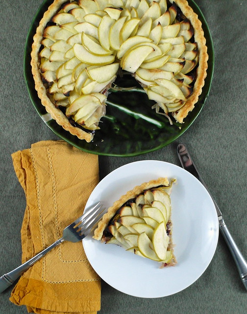 Savory Apple Onion Tart