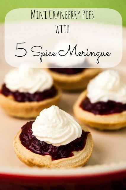 Mini Cranberry Pies with Chinese 5 Spice Meringue + giveaway thanksgiving recipe party food holiday entertaining christmas baking