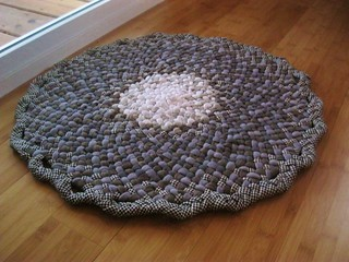 Small Braided Doily Rug