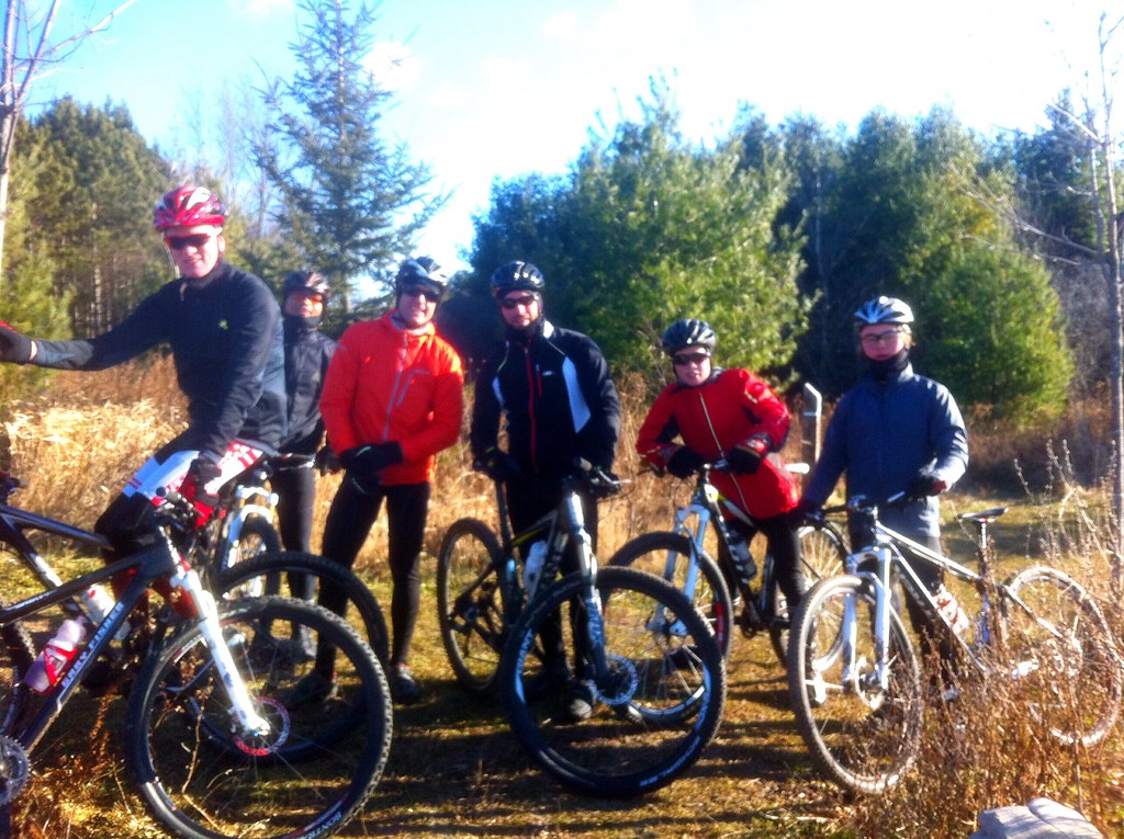 Great December group MTB ride
