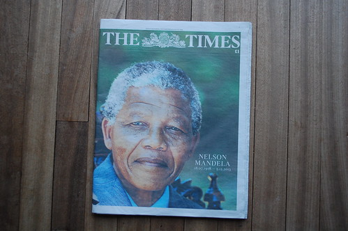 The Times - Nelson Mandela death