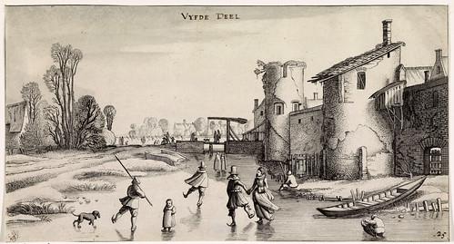 006-Paisaje de invierno con patinador, Jan van de Velde (II), 1639-1641-Rijkmuseum