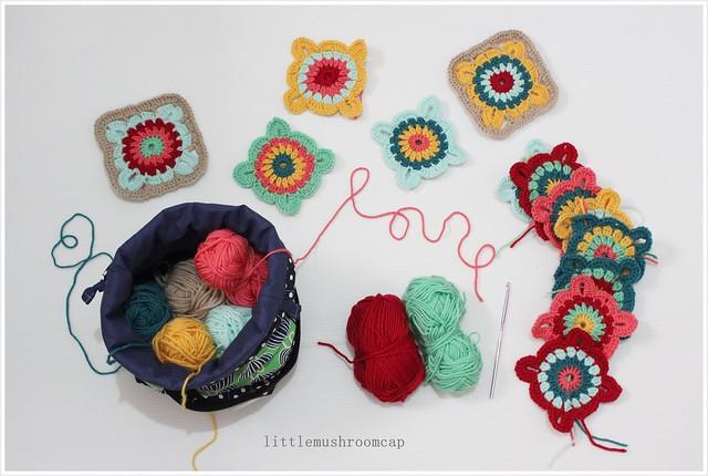 Crochet Granny squares blanket _ 2