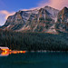 Lake Louise Boathouse Dawn by Panorama Paul