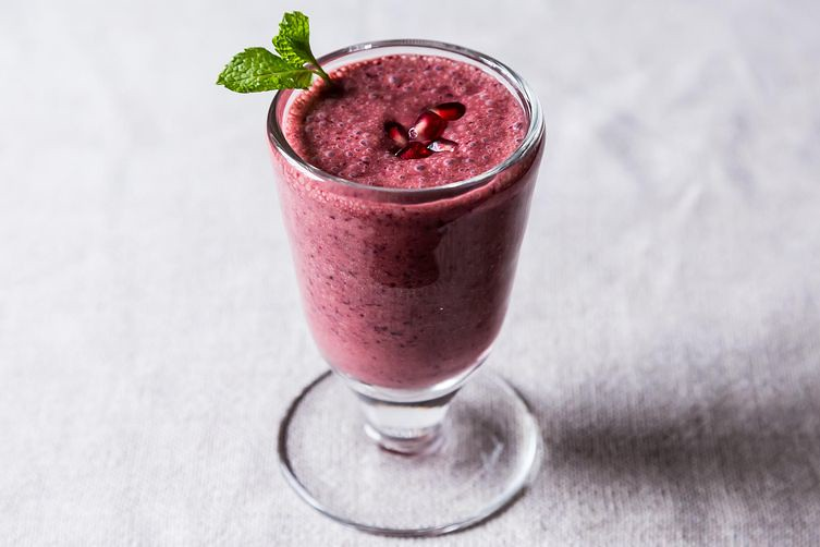 Triple Pomegranate Smoothie, from Food52