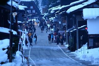 2014年1月3日夕刻の荻町。