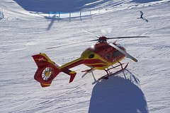 "WeatherMaker posted a photo:	A common ""guest"" up on the slopes ... evacuating injured skiers ..."