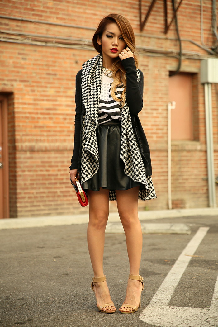 leather and houndstooth
