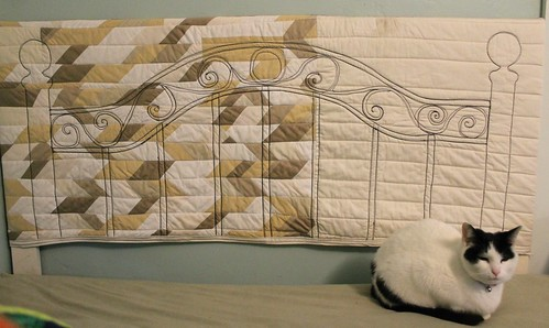 Quilted Wrought Iron Headboard