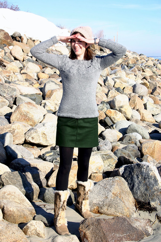 owl sweater moss skirt1