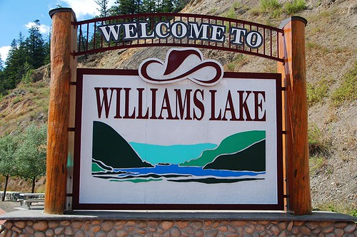 Williams Lake, Highway 97, Cariboo, British Columbia, Canada