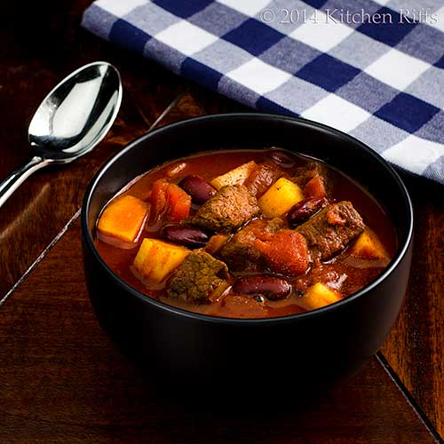 Meat and Potatoes Chili in bowl
