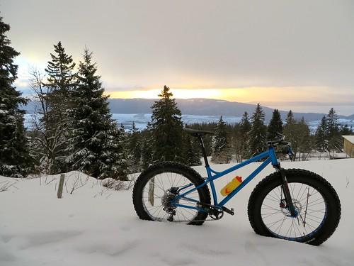 winter snow sunrise ride fatbike 26012014