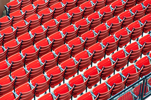 Rows of Red