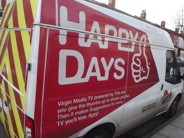 The Avenue, Acocks Green - van - Virgin Media - Julie Vandrews - Happy Days
