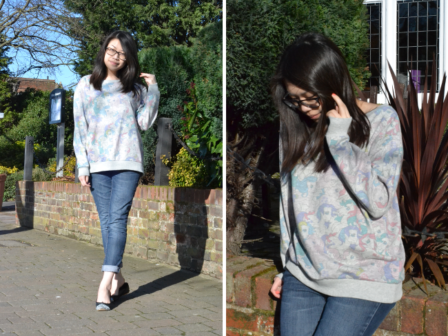 Daisybutter - UK Style and Fashion Blog: what i wore, casual outfits, my little pony sweatshirt, boyfriend jeans