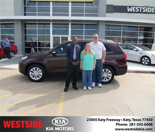 Happy Anniversary to David Mainer on your 2014 #Kia #Sorento from Landry Boris and everyone at Westside Kia! #Anniversary by Westside KIA
