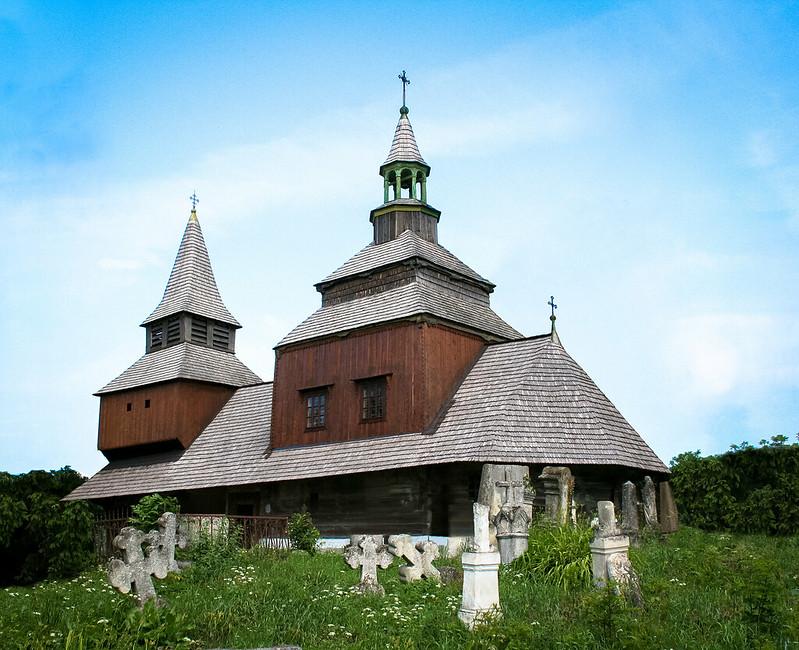 Tserkvas de madera región de los Cárpatos