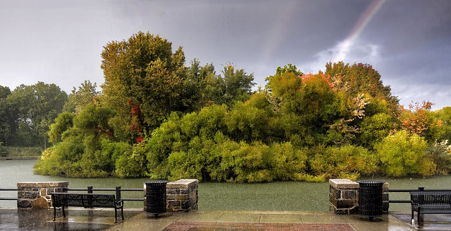 A rainy day at Woodcliff Lake