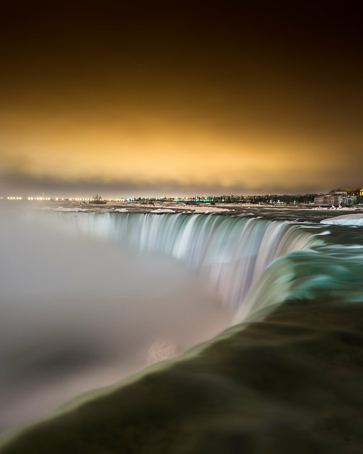 Winter Night at Niagara Falls