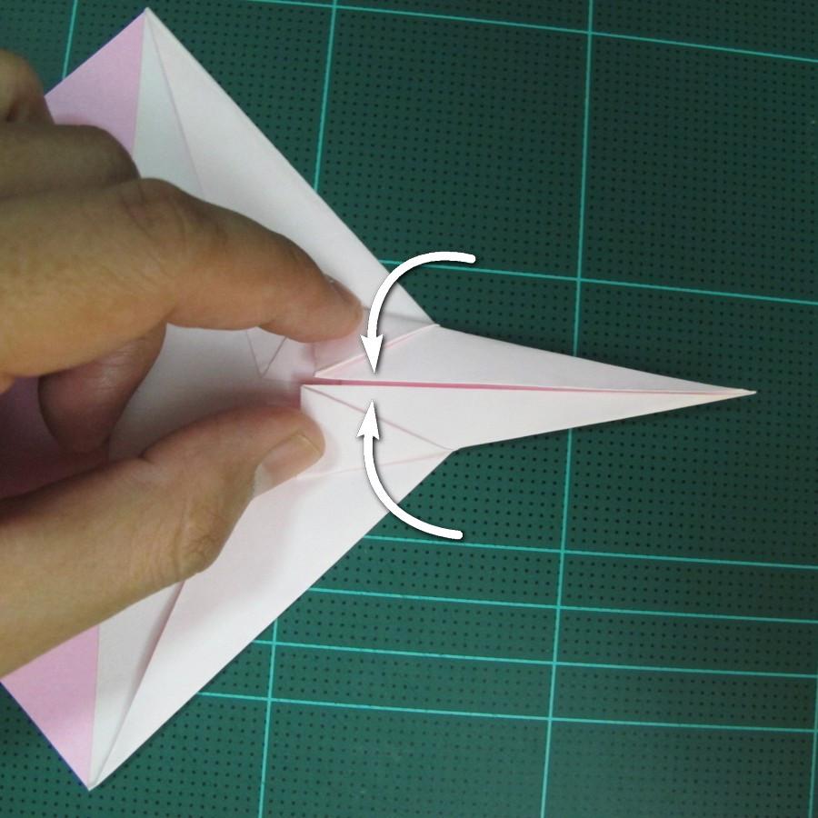 วิธีพับกระดาษเป็นรูปเครื่องบินแบบบินไกล (SST Origami Airplane) 011